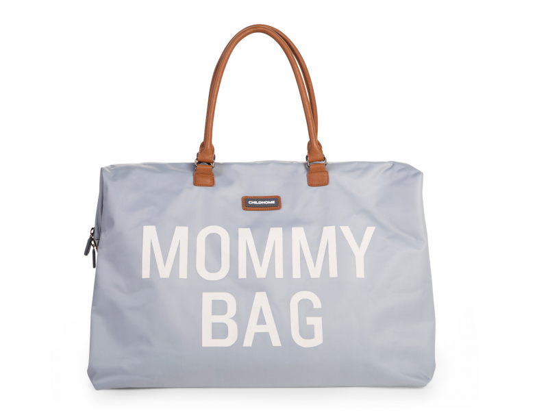 CHILDHOME PREBAĽOVACIA TAŠKA MOMMY BAG BIG GREY OFF WHITE